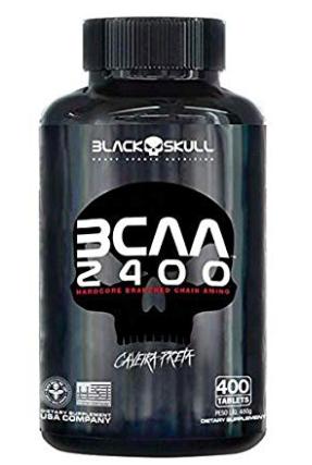 Aminoácido BCAA 2400 Caveira Preta 400 tabs - Black Skull