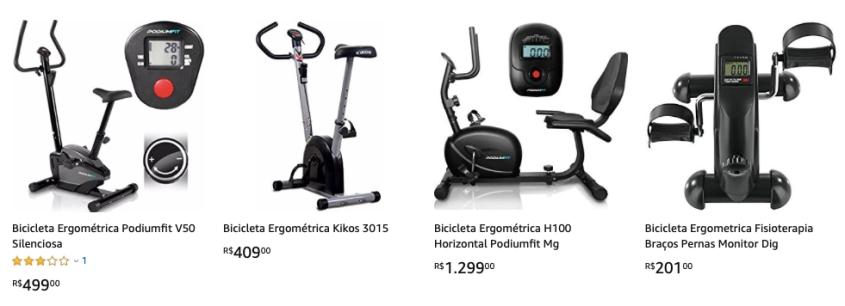Grandes ofertas em bicicletas ergométricas