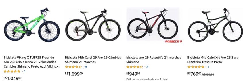 Grandes promoções em bicicletas