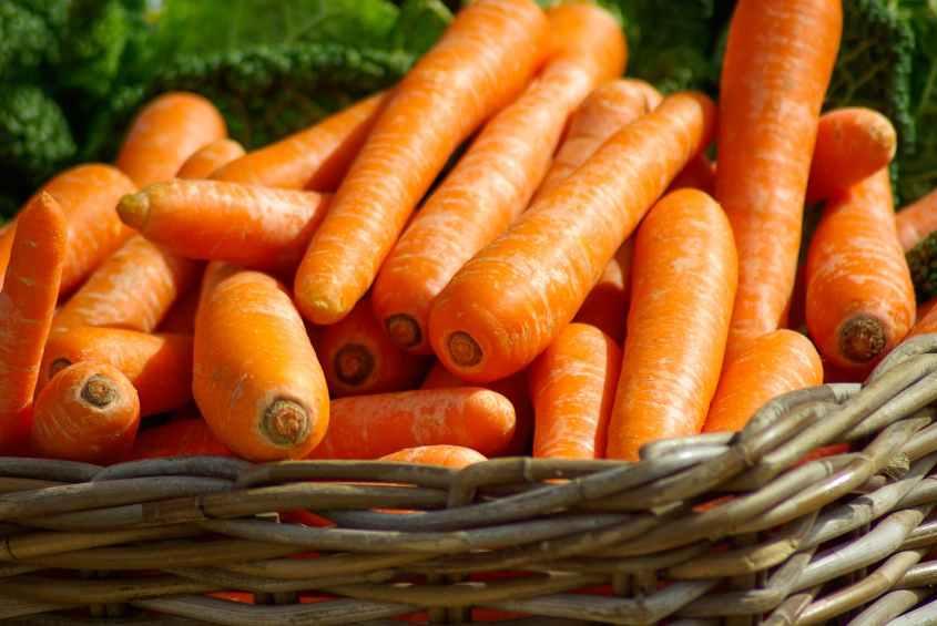 Cenoura é muito rico em vitamina A, além da vitamina C