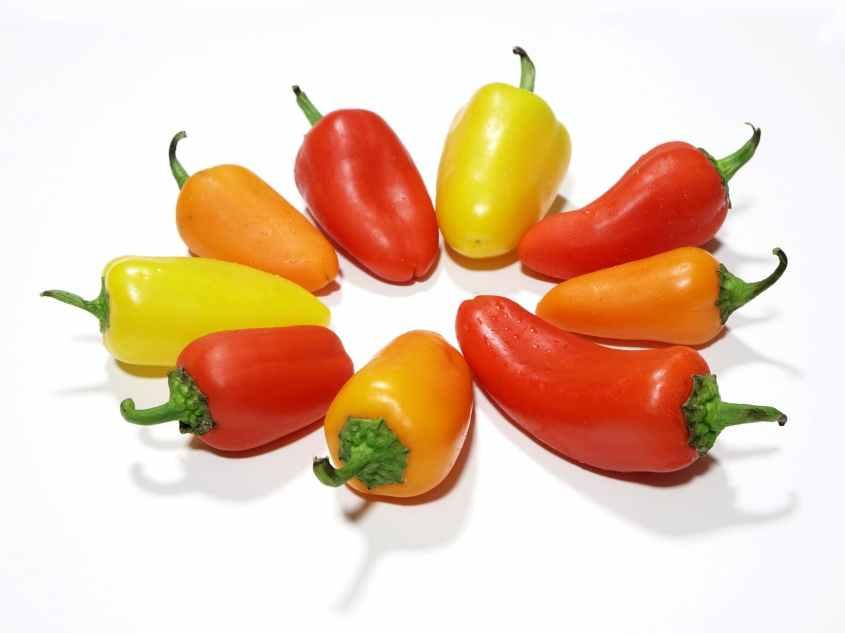 Pimenta Contém muitos licopeno e o ácido fólico.